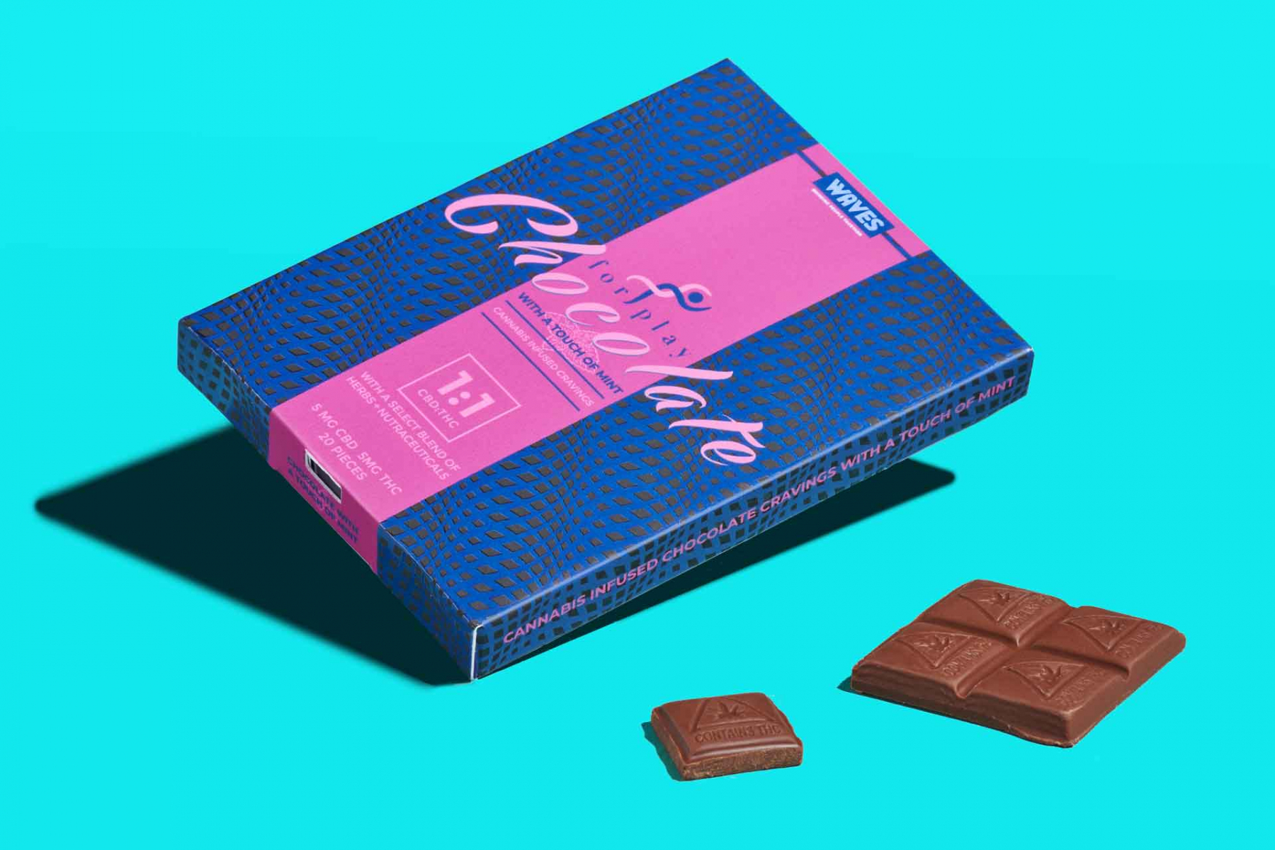 For Play Chocolate Cannibis infused chocolate bar packaging