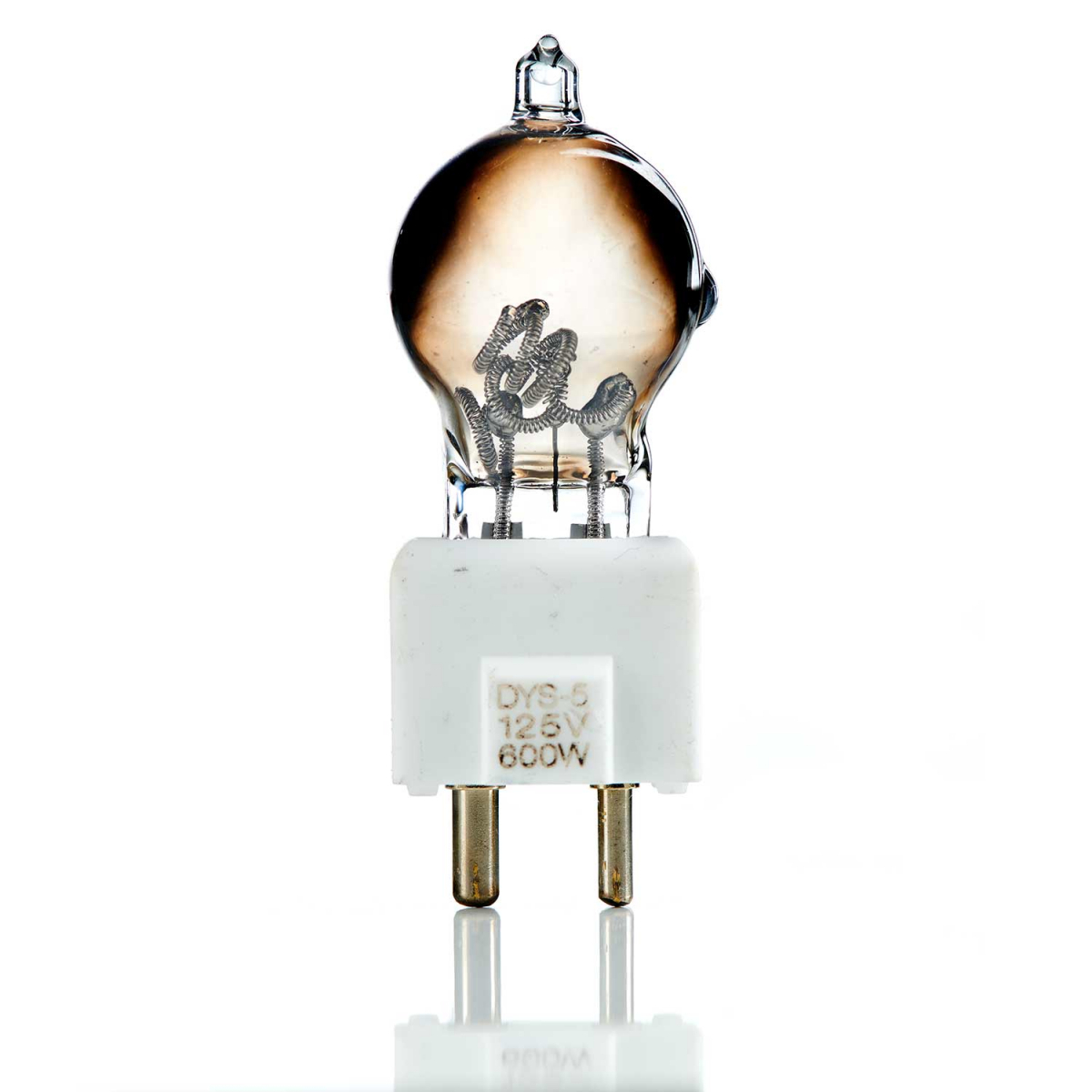 Burnt Bulb on White